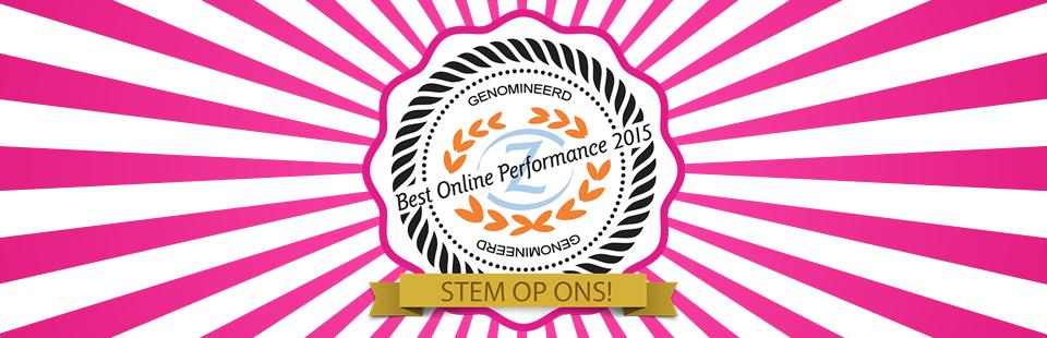 """Pinkcube genomineerd voor """"Best Online Performance 2015"""""""