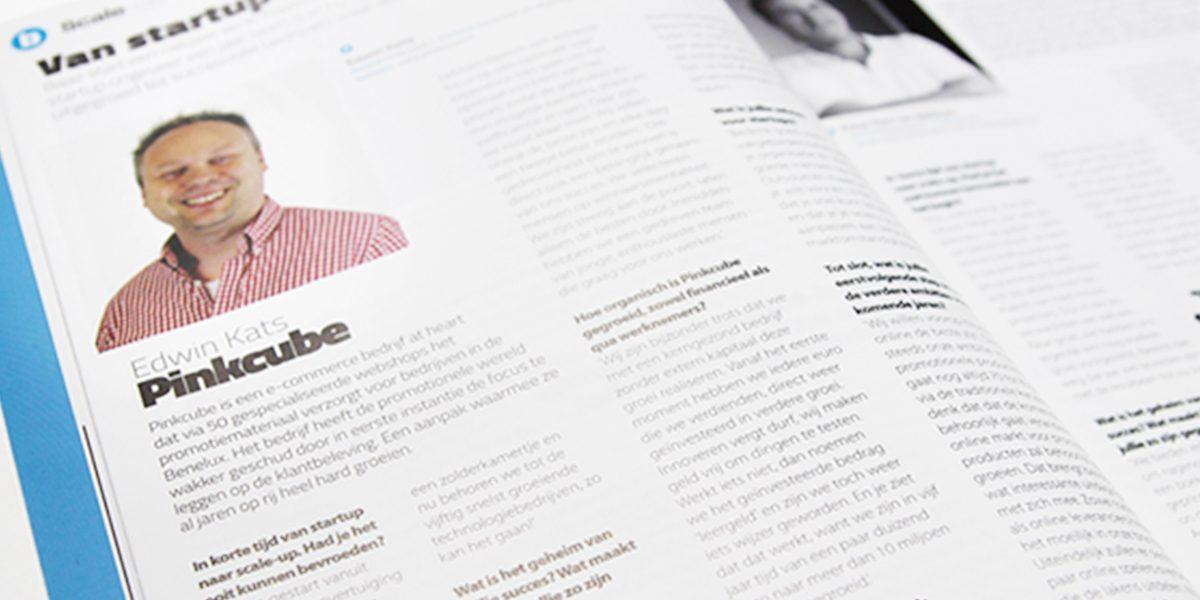 """Pinkcube in serie """"Van startup naar scale-up"""""""