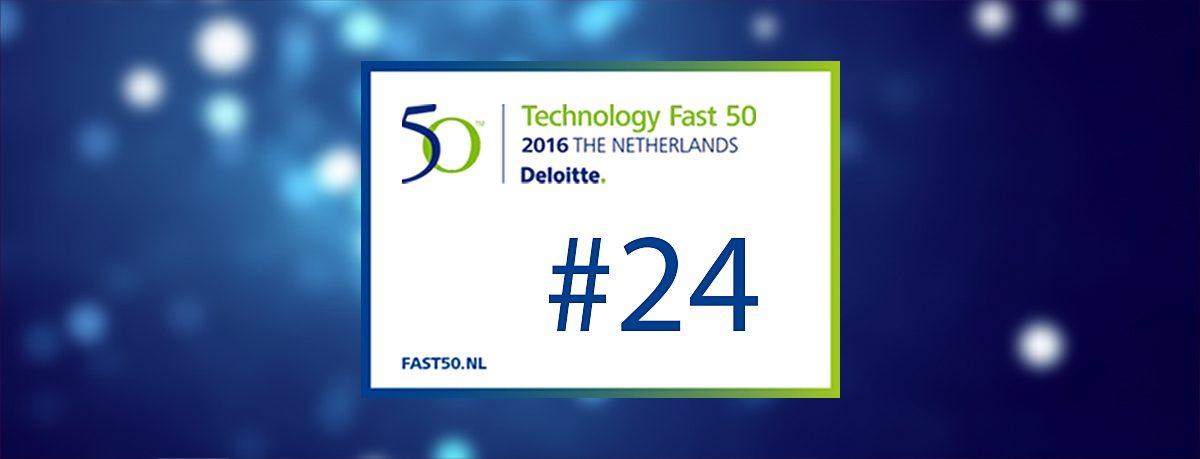 Plek 24 in Deloitte Technology Fast50