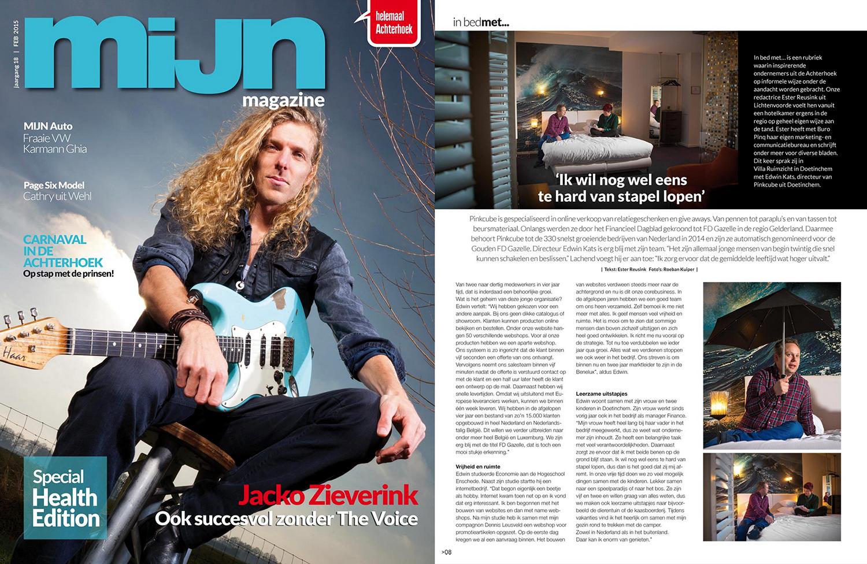 Interview met MIJN magazine: in bed met…