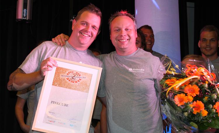 """Pinkcube wint award voor """"Best Online Performance"""""""