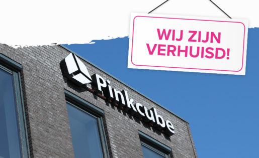 Pinkcube is verhuisd! 20% korting speciaal voor jou
