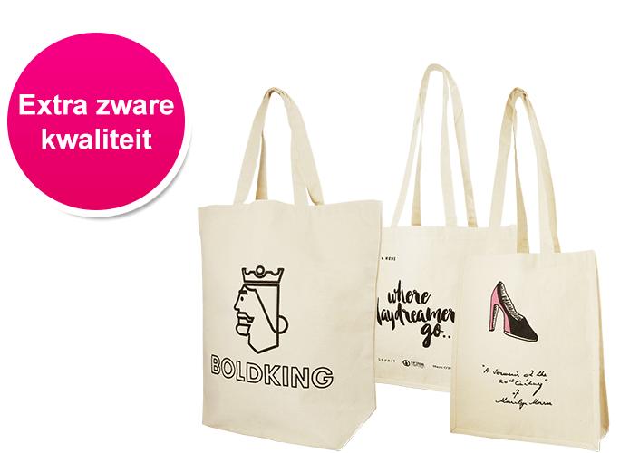 Zwarte Linnen Tas Bedrukken : Tassen bedrukken goedkoop snel bedrukte tasjes