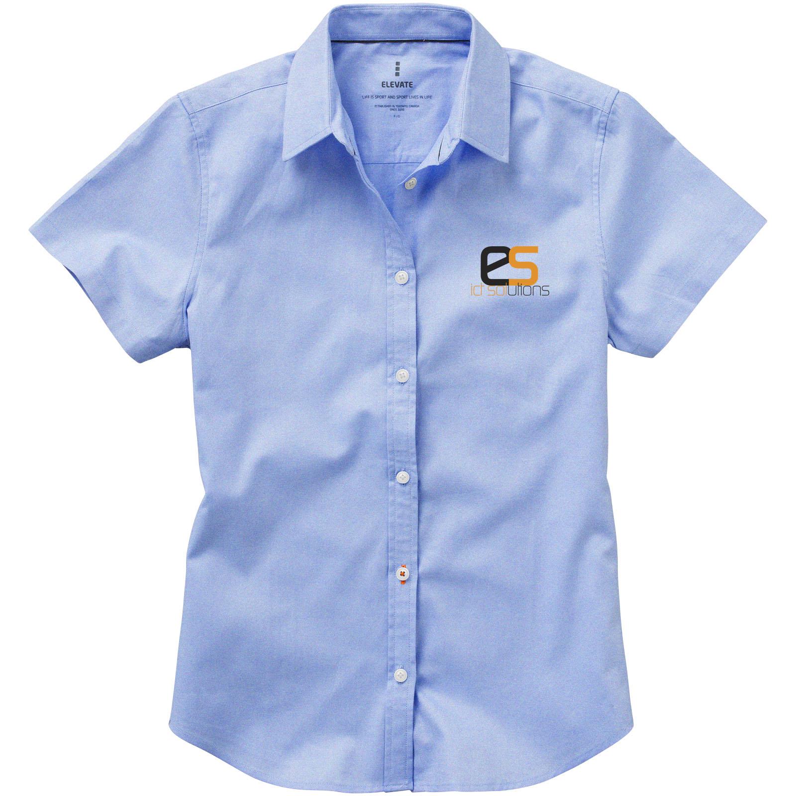 Dames Overhemd.Basic Oxford Dames Overhemd Korte Mouw Bedrukken Voordelig Snel