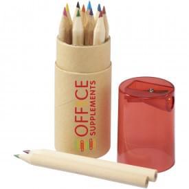 12 delige potloden set in kartonnen doos