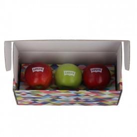3 appels in een geschenkverpakking