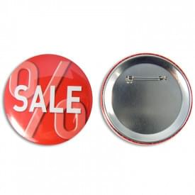 Button met speld 75 mm