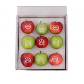 9 appels in een geschenkverpakking