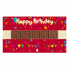 Acetaat 7 Happy B-day - hoera