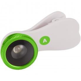Fisheye lens met clip