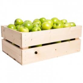 Grote fruitkist met appels