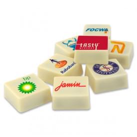 Handgemaakte logopraline's