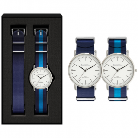 Horloge set Flat style (bandjes in eigen PMS)