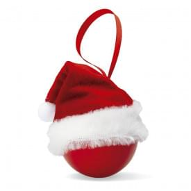 Kerstbal met kerstmuts