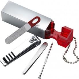 Manicure set aan sleutelhanger