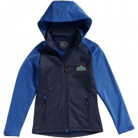 Premium softshell dames hooded jack