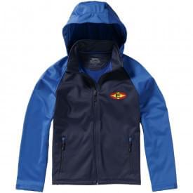 Premium softshell heren hooded jack