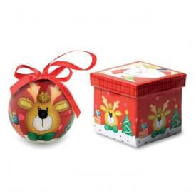 Rendy kerstbal in schenkverpakking