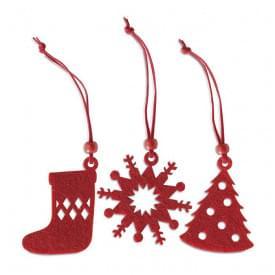 Set van 12 kerstboomhangers