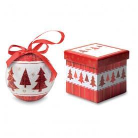 Snowy kerstbal in schenkverpakking