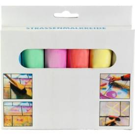 Stoepkrijt in 6 verschillende kleuren