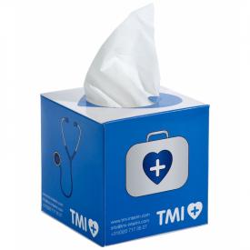 Vierkante tissuebox met 50 tissues