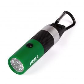 Zaklamp met 9 LED met karabijnhaak Cloex
