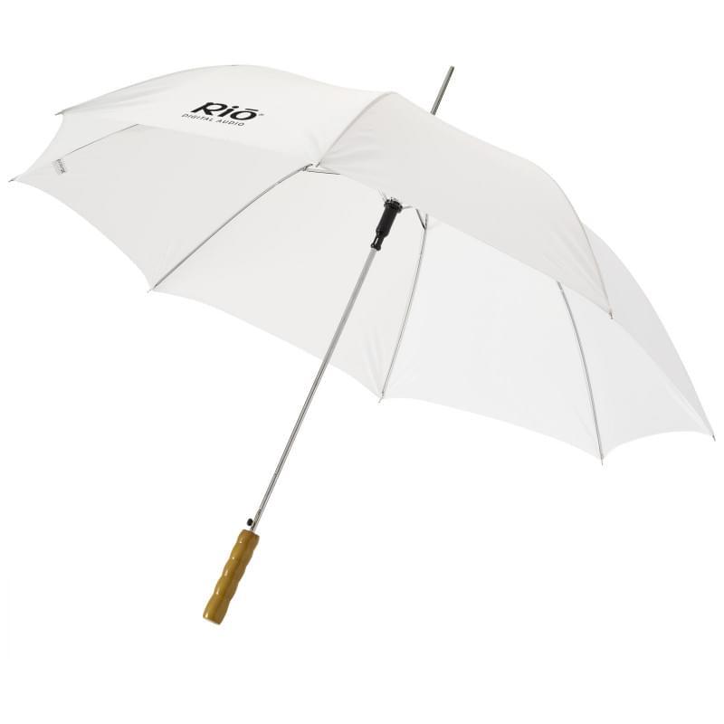 Automatische paraplu met houten handvat