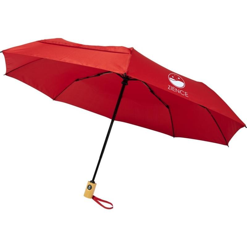 "Bo 21"" opvouwbare, automatische gerecyclede PET paraplu"