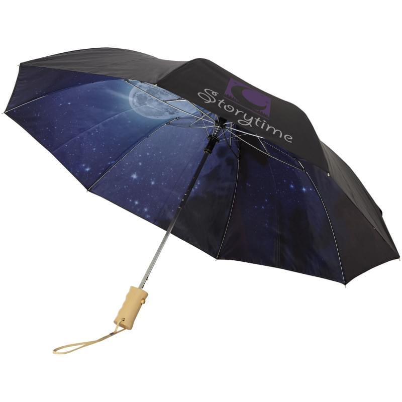 """Clear night sky 21"""" 2- sectie automatische paraplu"""