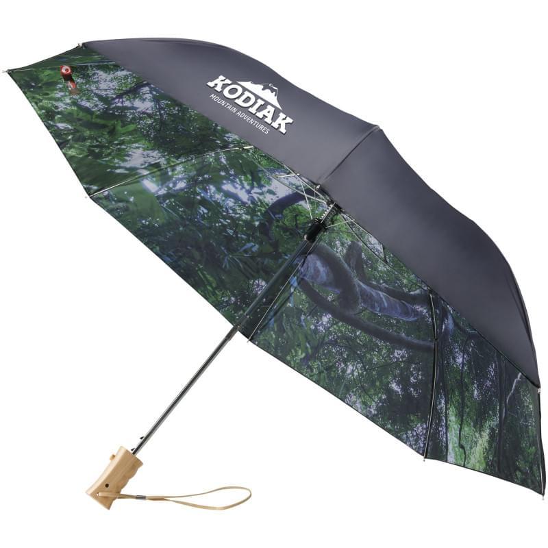 """Forest skies 21"""" 2 sectie opvouwbare automatische paraplu"""