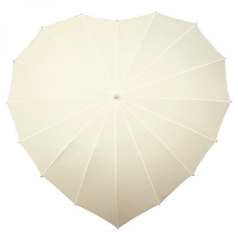 Windproof hartvormige paraplu