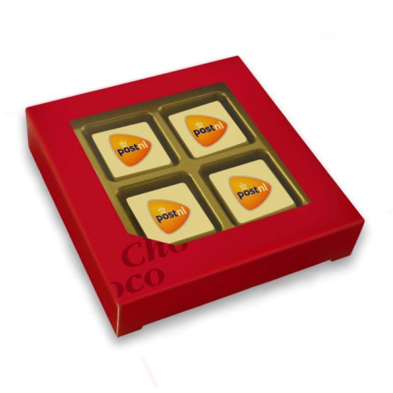 Chocolade giftbox 4 bonbons