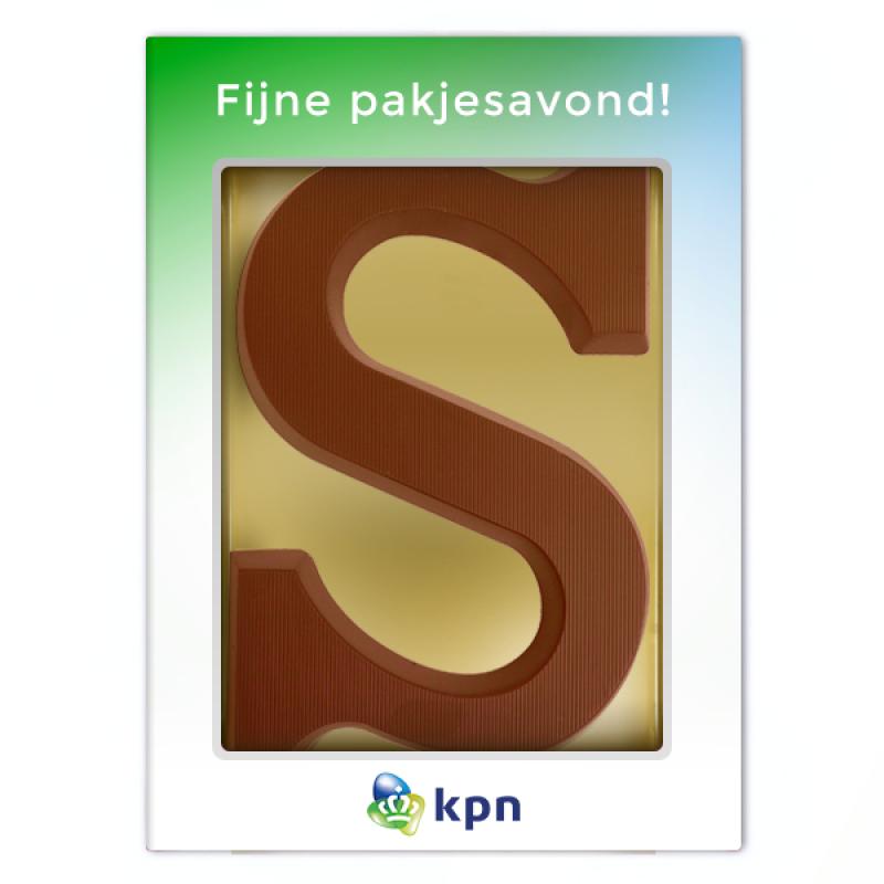 Chocoladeletter met gepersonaliseerde sleeve (175 g)