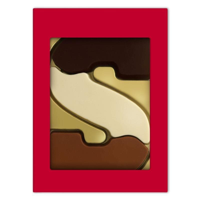 Chocoladeletter S drie smaken