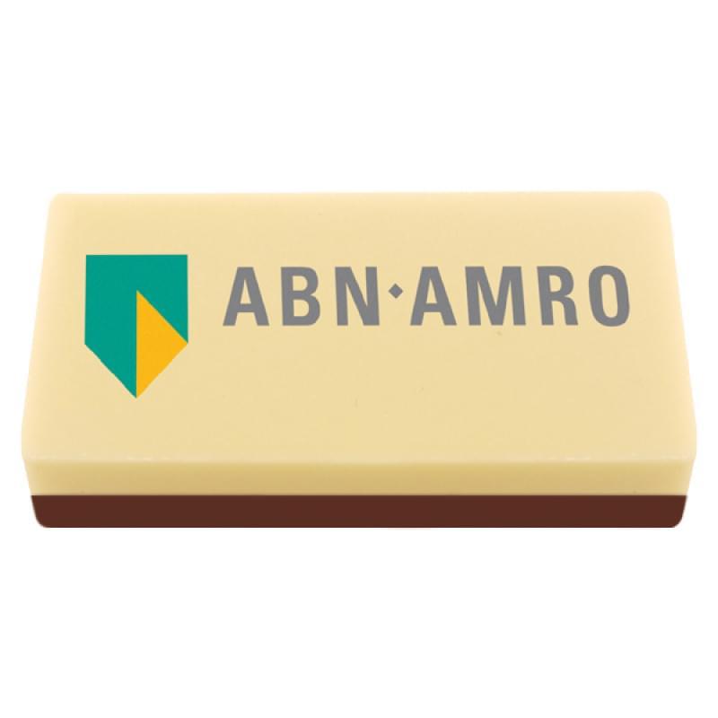 Handgemaakte XL chocoladeblokjes met logo