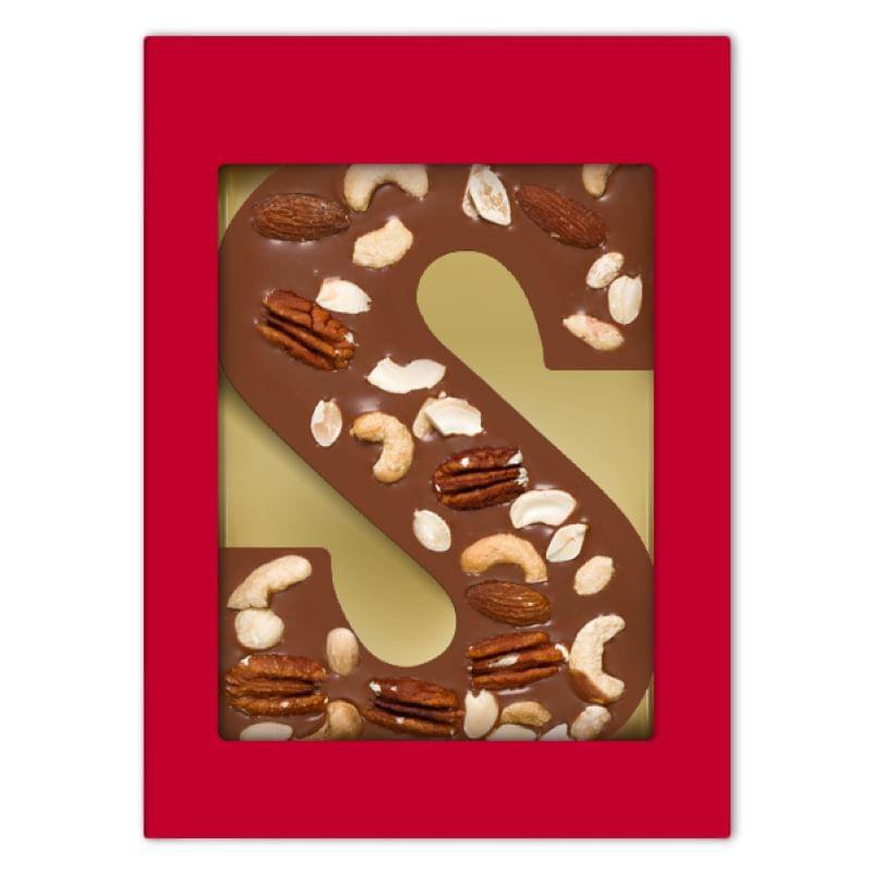 Chocoladeletter S notenmix