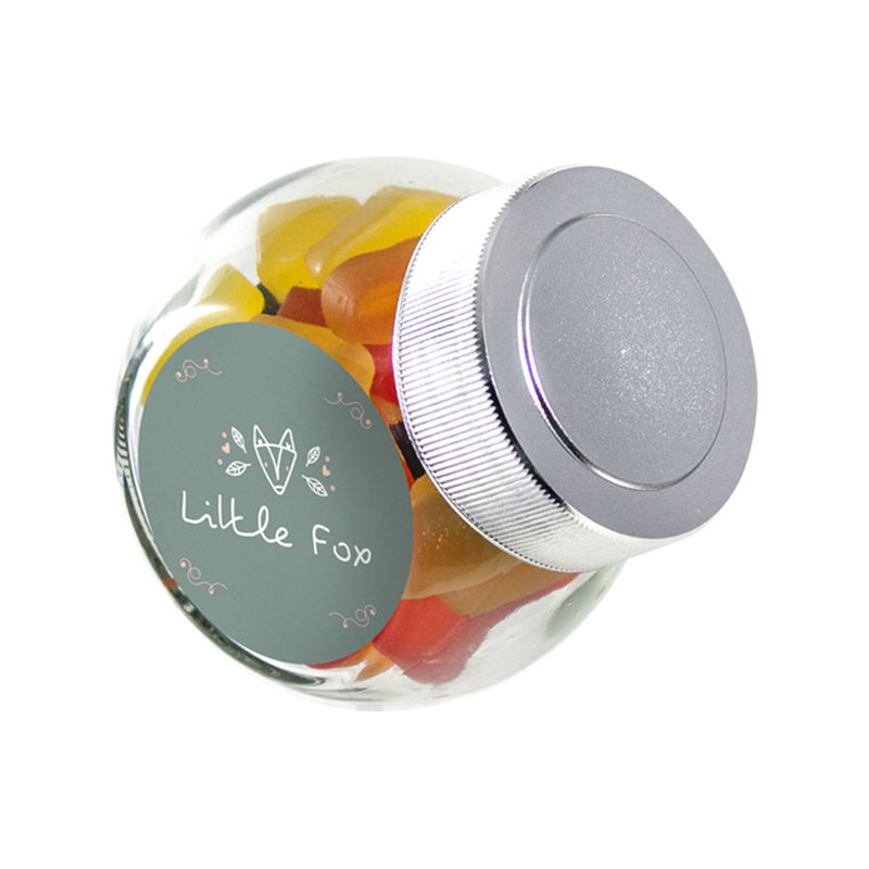 Mini glazen snoeppotje