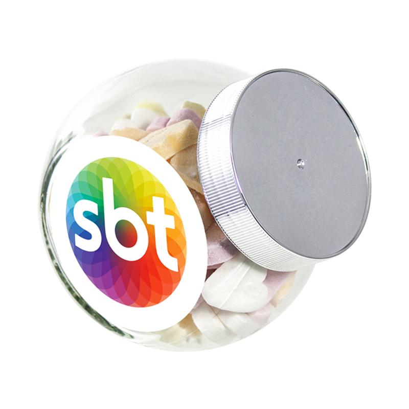 Snoeppot kleine glazen pot