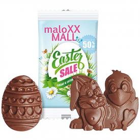 Chocolade kip, ei of haas in zakje