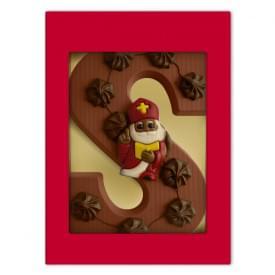 Luxe gedecoreerde chocoladeletter S (220 g)