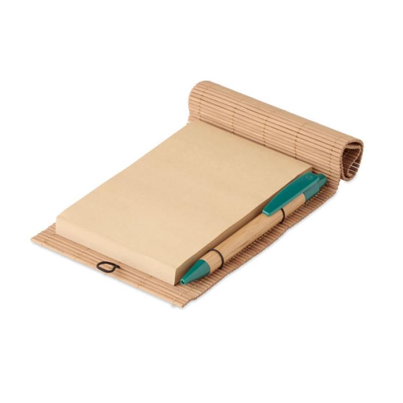 Bamboe notitieblok met pen