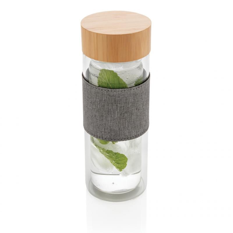 Impact dubbelwandige borosilicaat glazen drinkfles