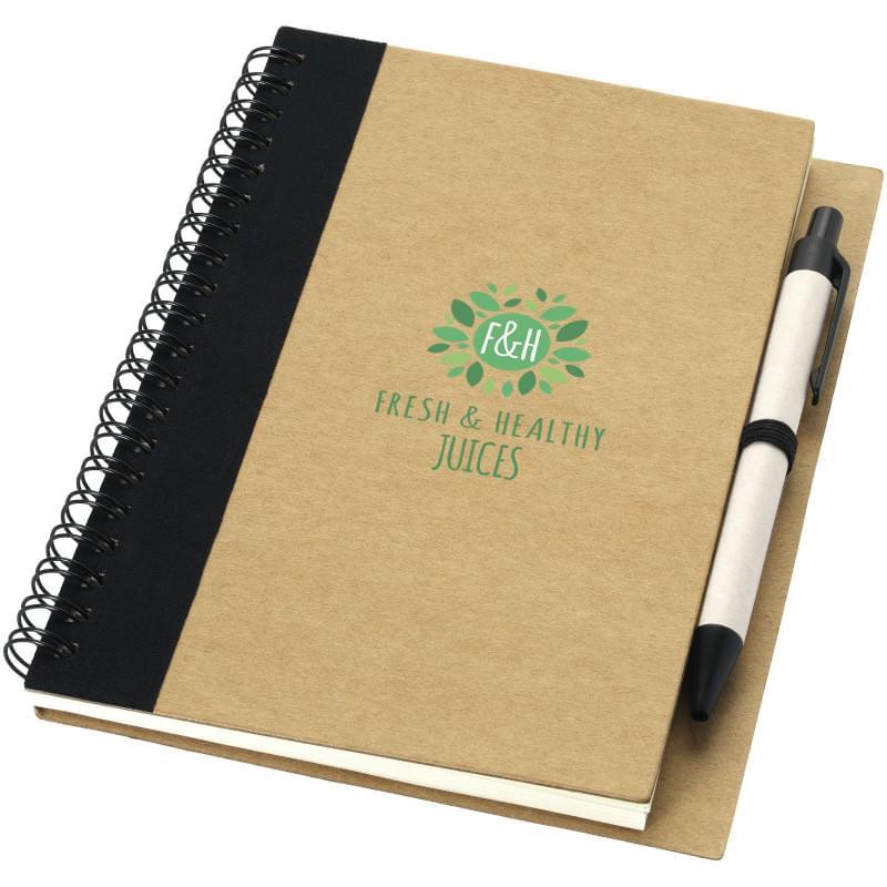 Priestly gerecycled notitieboek A6 met pen
