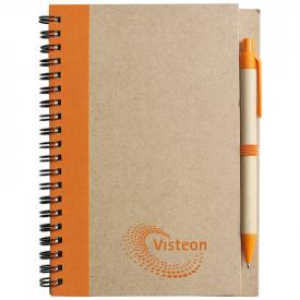 A6 notitieboekje eco met balpen