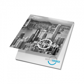 Memoblok met softcover 75 x 75 mm