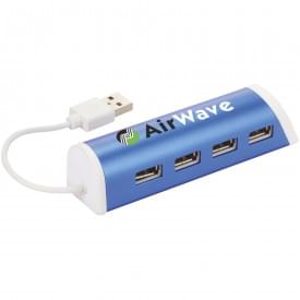 Aluminium 4-poorts USB Hub & Telefoonstandaard