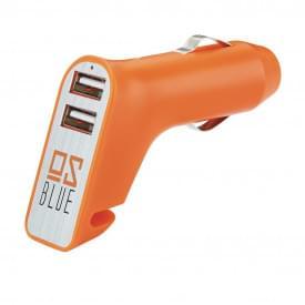 Veiligheids autolader met 2 USB poorten