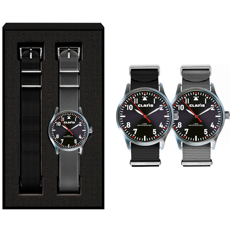 Horloge set Pilot (bandjes in eigen PMS)