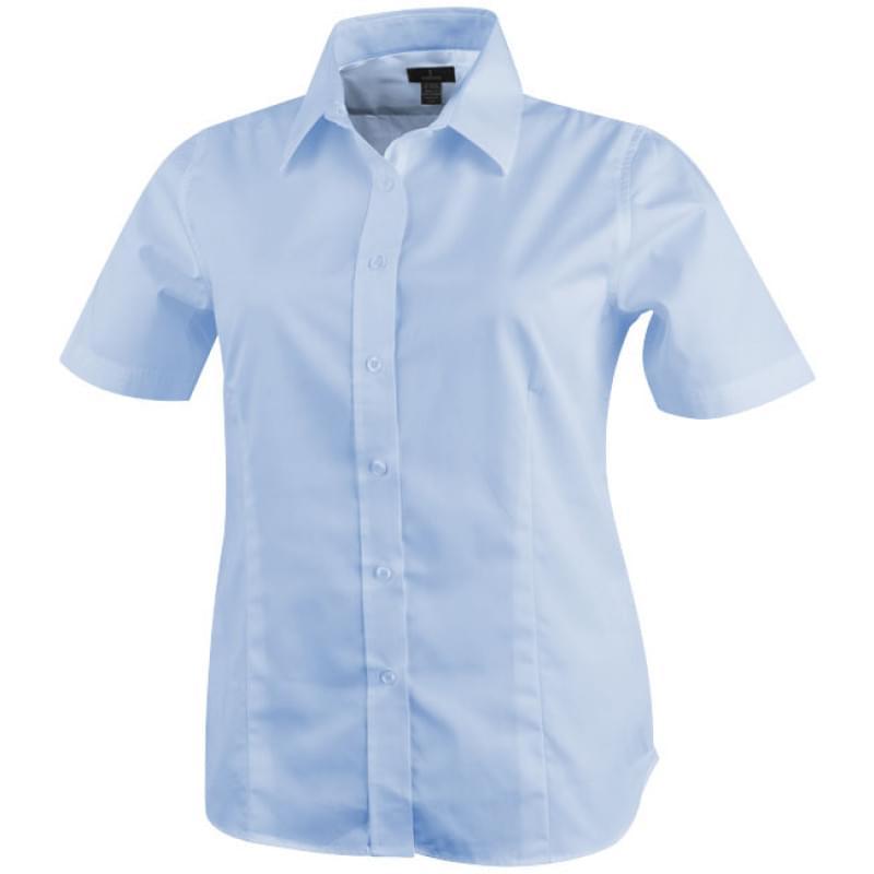 Dames Overhemd.Basic Twill Dames Overhemd Korte Mouw En Borstzak Bedrukken